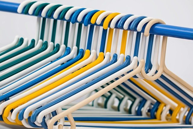 declutter your house with hangers